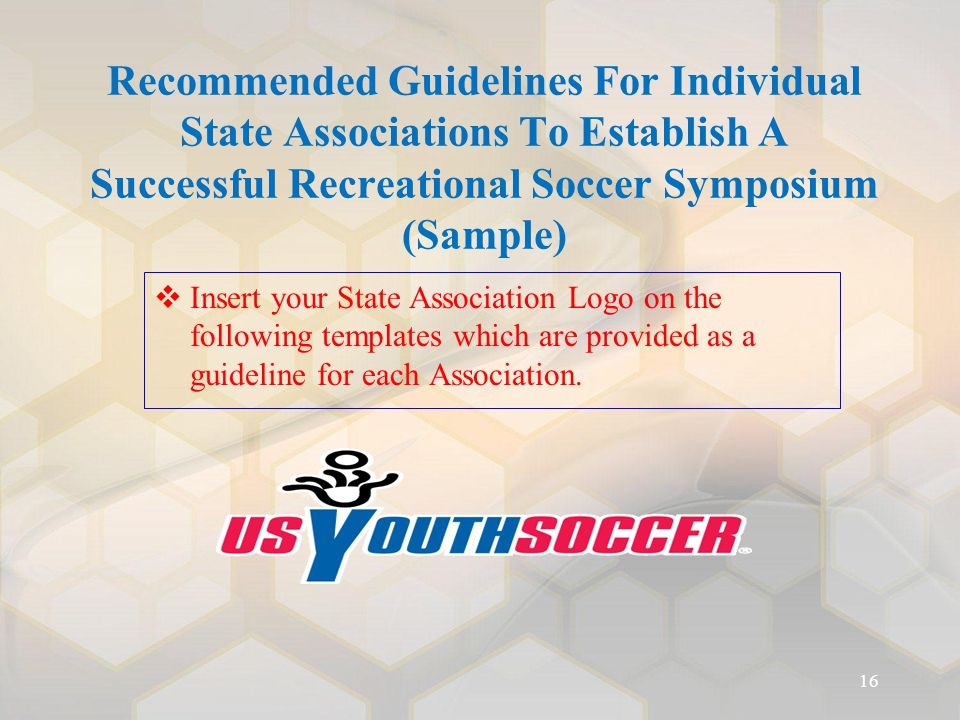 Recommended Guidelines For Individual State Associations To Establish A Successful Recreational Soccer Symposium (Sample)   Insert your State Associ