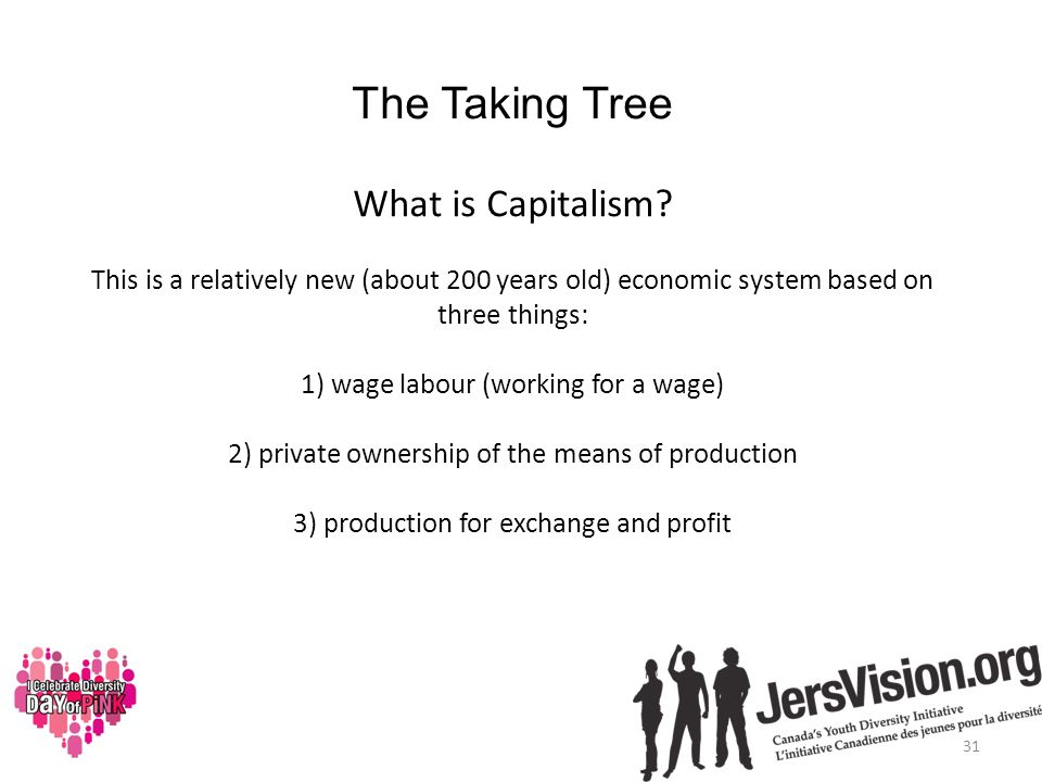 The Taking Tree What is Capitalism.