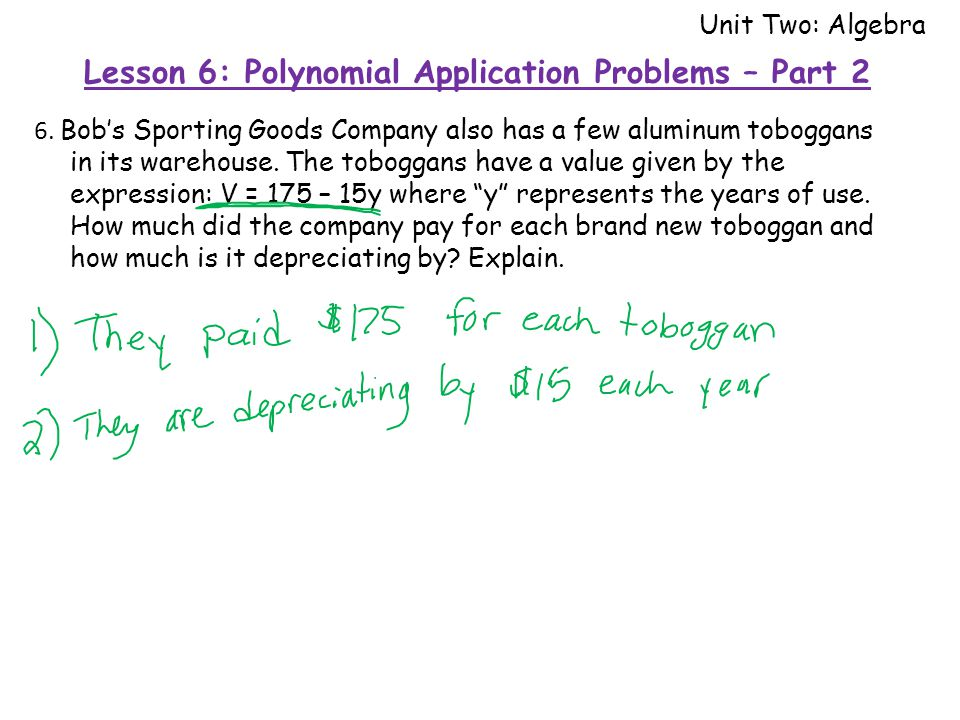 6. Bob's Sporting Goods Company also has a few aluminum toboggans in its warehouse.