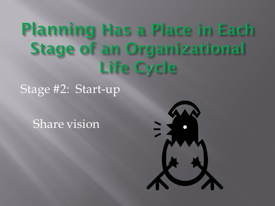 Stage #2: Start-up Share vision