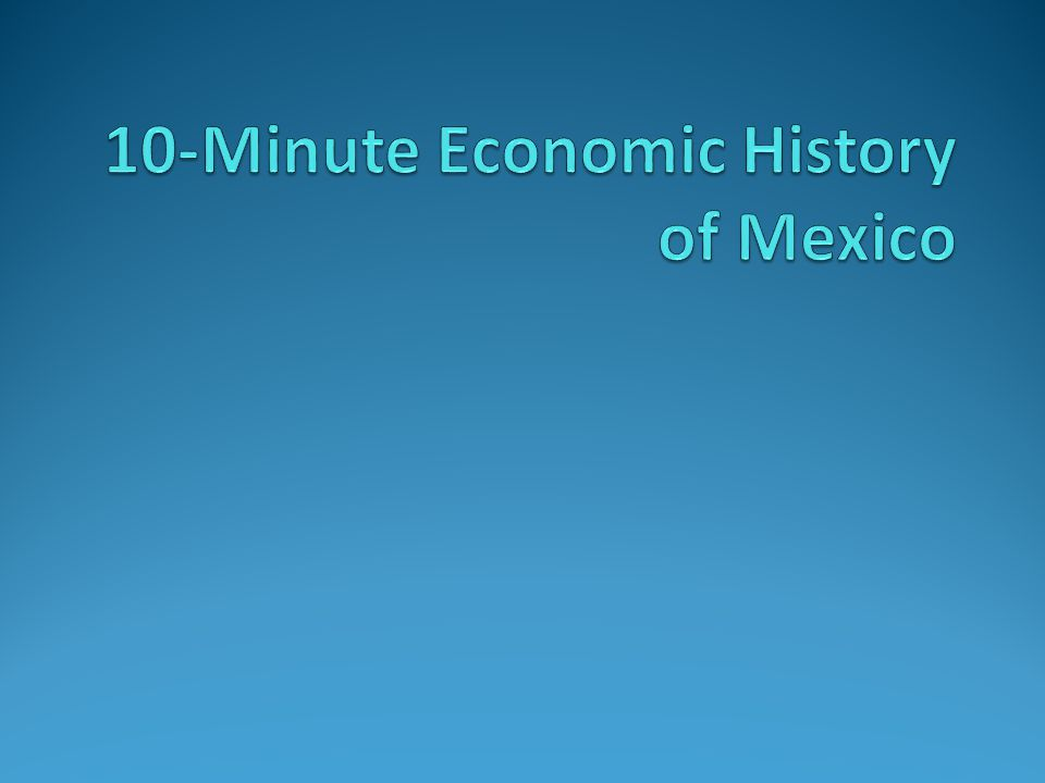 Pre-Columbian Era to the Revolution Mexico City – focal point of civilization 1500-100K inhabitants, 30M in Mexico Architecture, irrigation, engineering, writing Feudal system: caciques and tribute 1520-1810 – Spanish imperialist economy Emergence of 'la raza' 1810-1910 – Incomplete independence Spanish control displaced, but feudal system remained (caudillos)