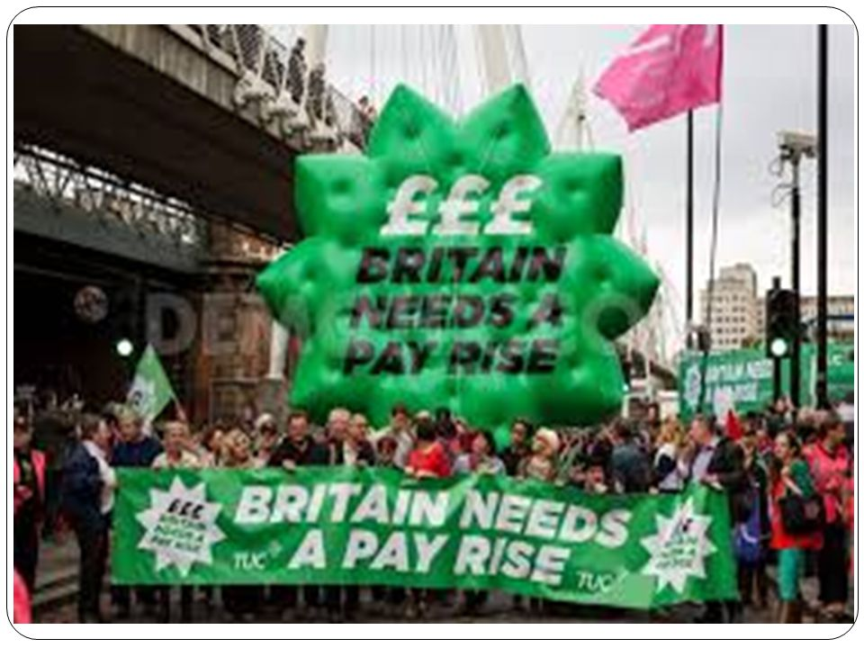 Britain Needs A Pay Rise March 80,000-90,000 Marched against austerity Wales TUC Charter train carrying nearly 500 people from Cardiff along with coaches from all over Wales.