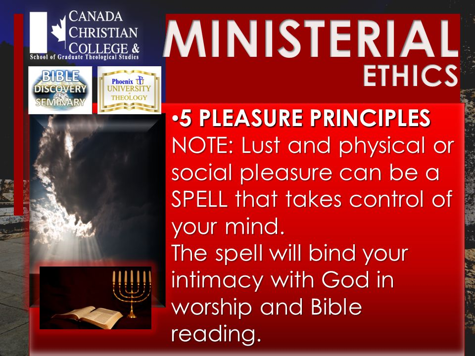 5 PLEASURE PRINCIPLES 5 PLEASURE PRINCIPLES NOTE: Lust and physical or social pleasure can be a SPELL that takes control of your mind.