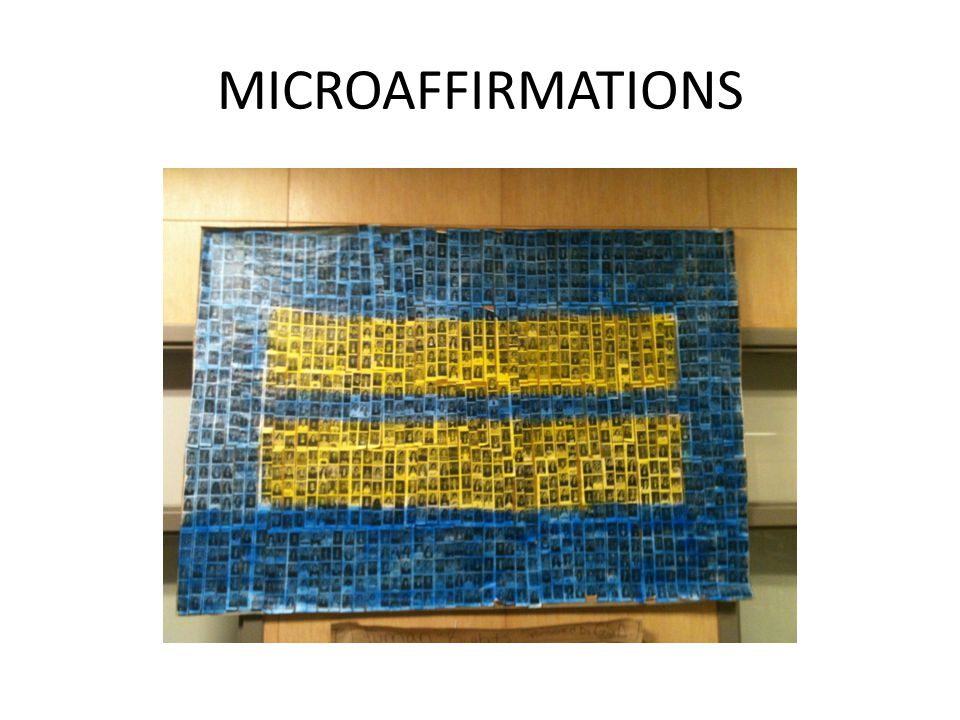 MICROAFFIRMATIONS