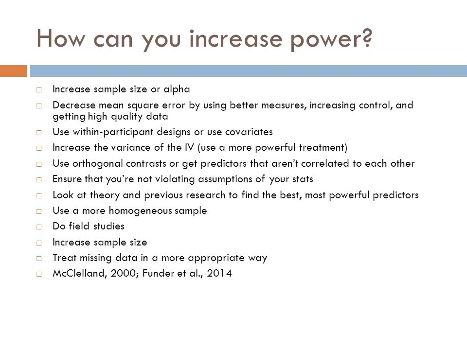 How can you increase power.
