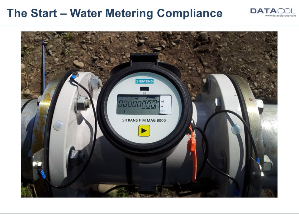 The Start – Water Metering Compliance