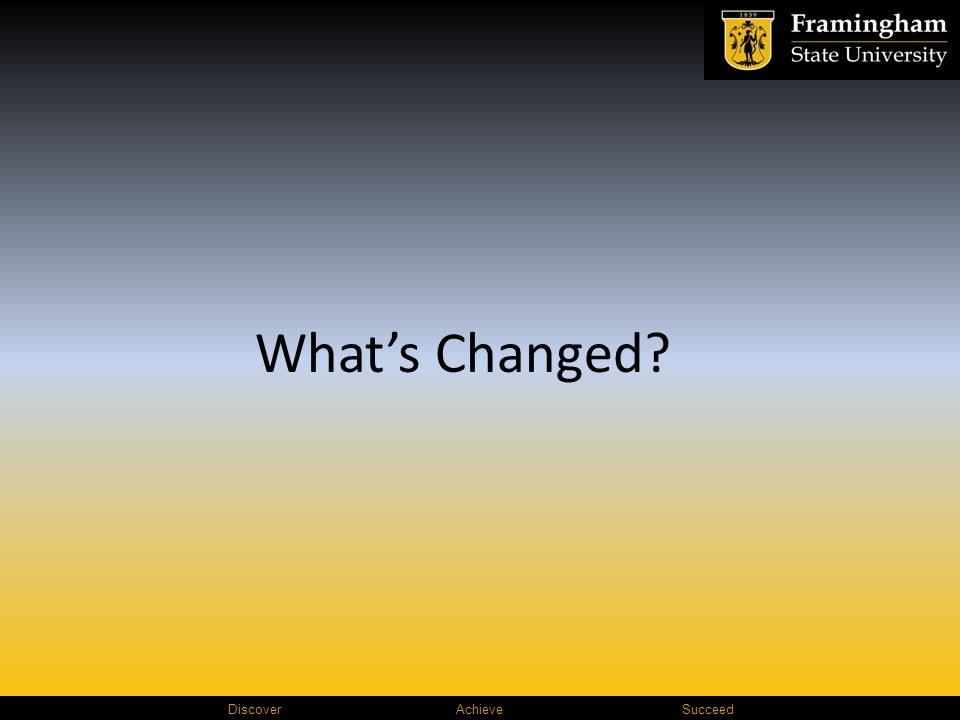 Discover AchieveSucceed What's Changed?