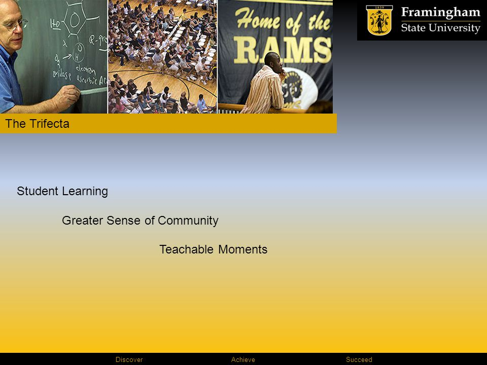 Discover AchieveSucceed The Trifecta Student Learning Greater Sense of Community Teachable Moments