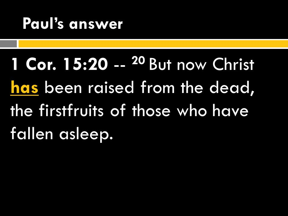 What if Christ IS raised.