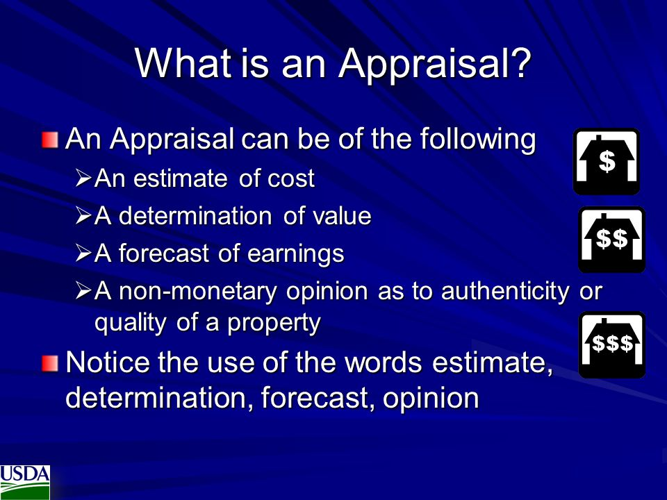 What is an Appraisal.