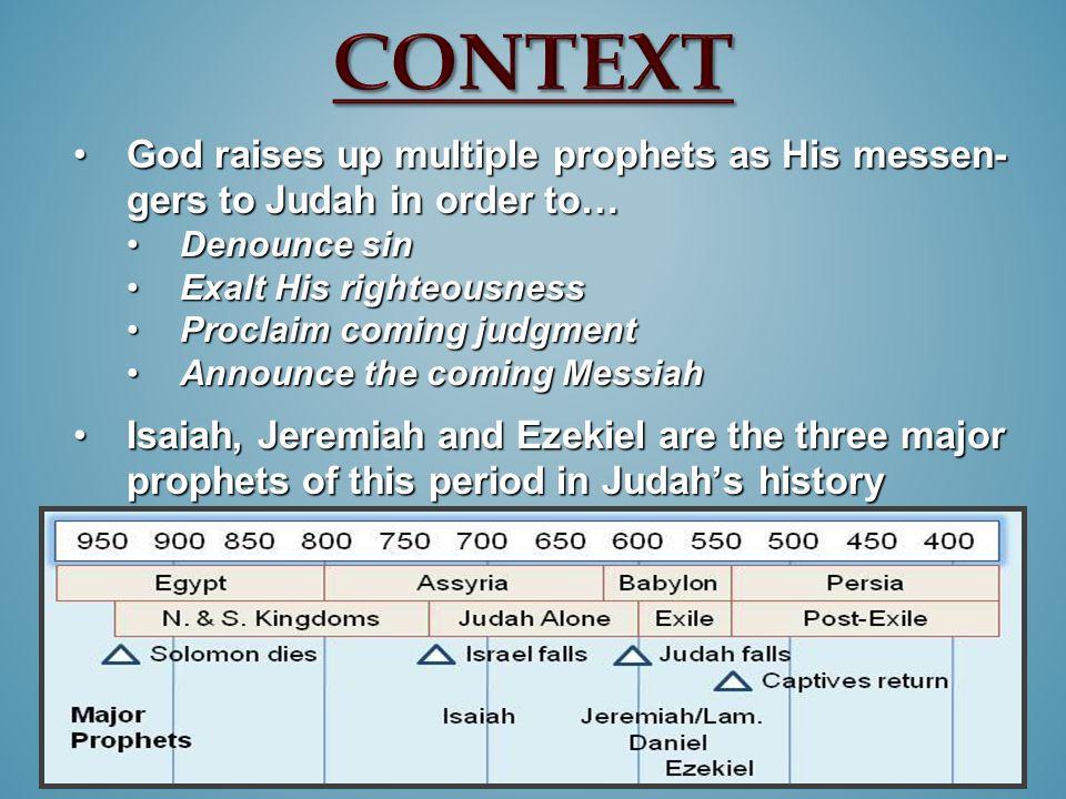 God raises up multiple prophets as His messen- gers to Judah in order to…God raises up multiple prophets as His messen- gers to Judah in order to… Den