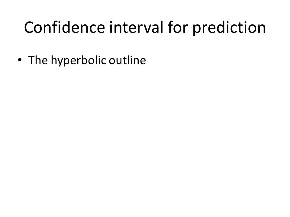 Confidence interval for prediction The hyperbolic outline