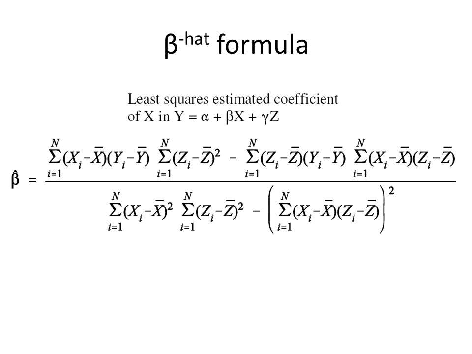 β -hat formula