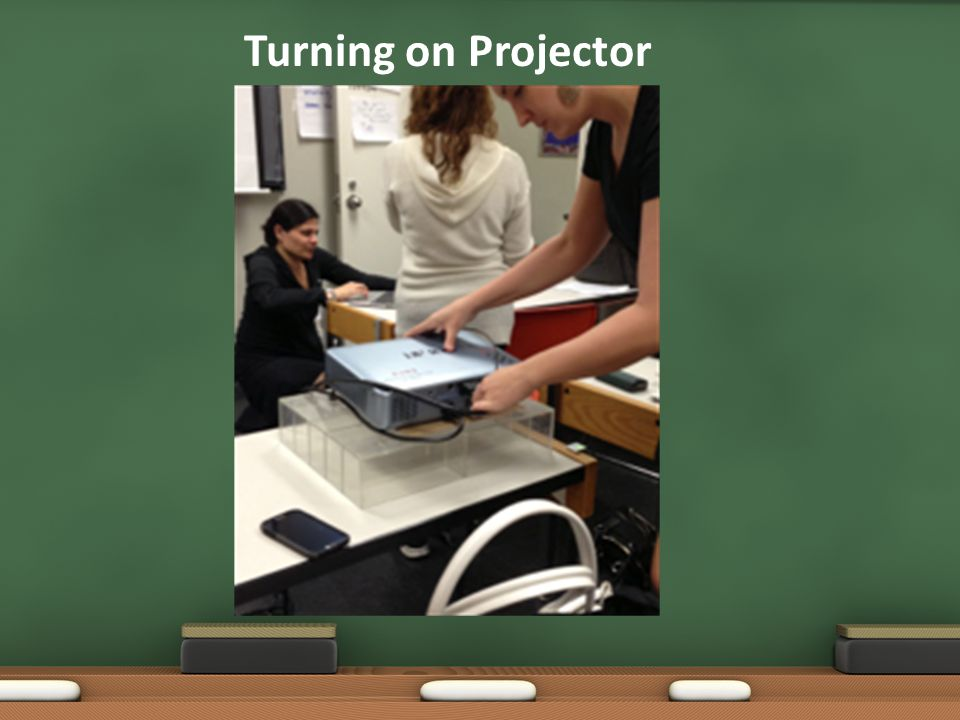 Turning on Projector