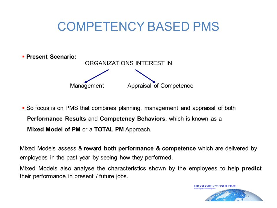 COMPETENCY BASED PMS