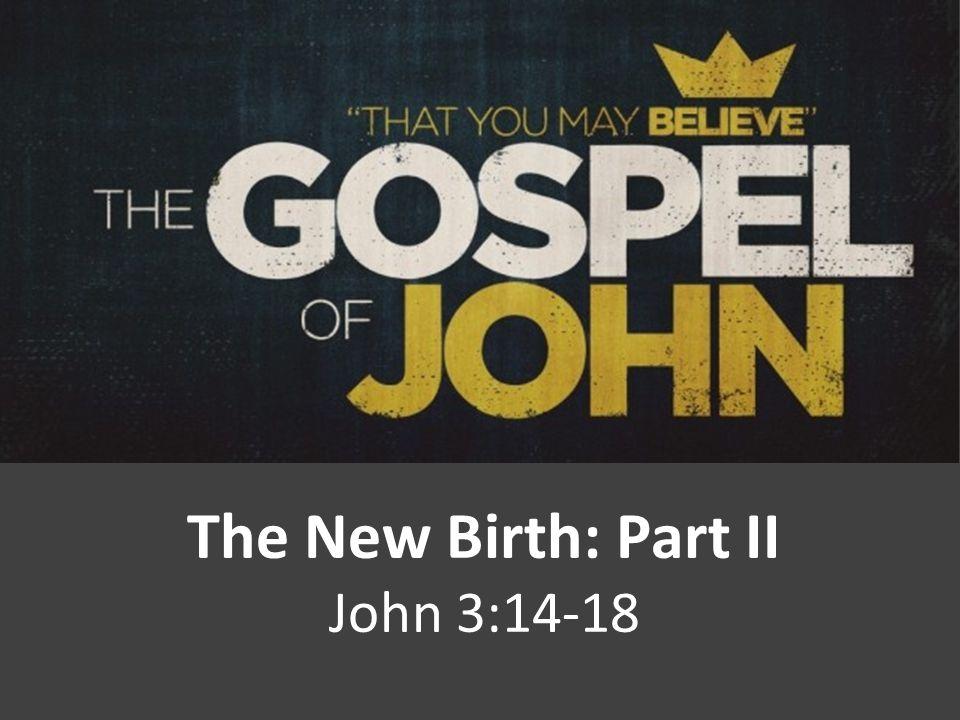 The New Birth: Part II John 3:14-18