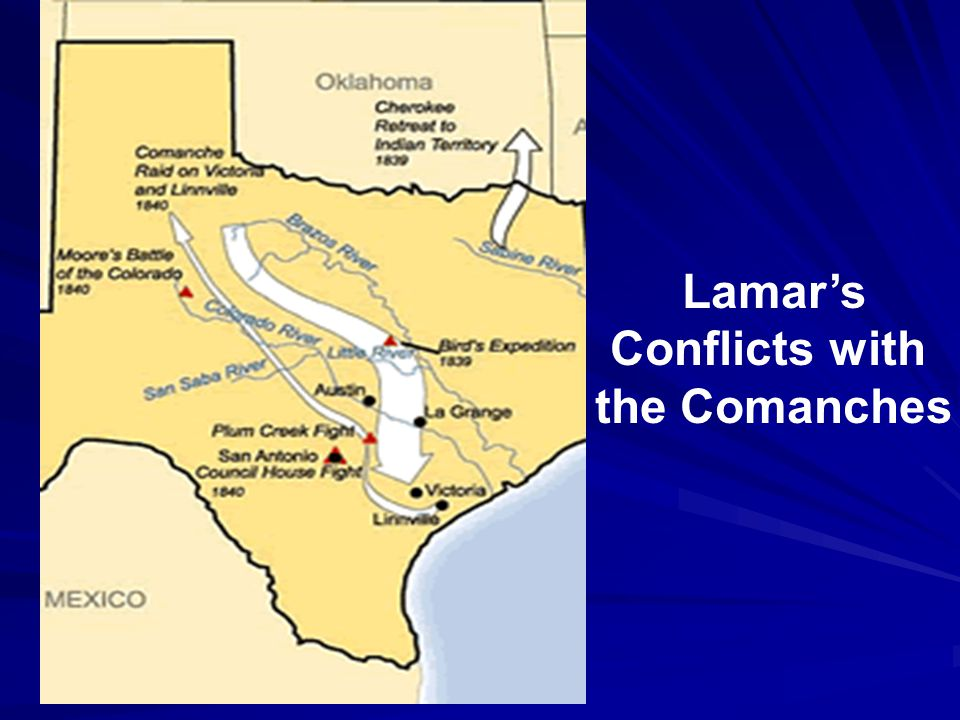 Texas Rebuilds Its Navy Lamar ordered a newly restored navy into Mexican waters.