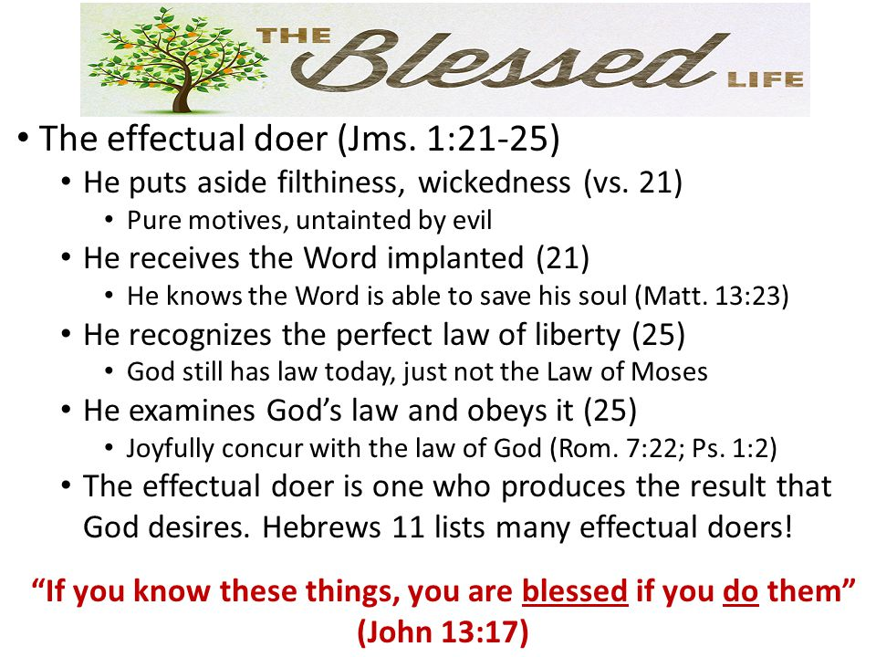 The blessings of effectual doing (Ps.