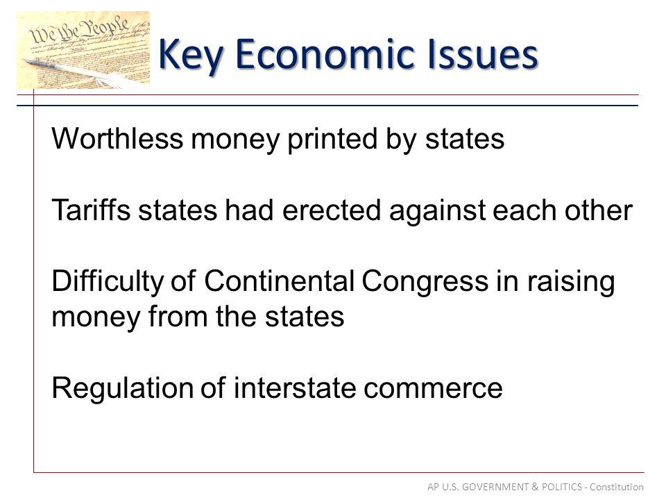 Key Economic Issues AP U.S.