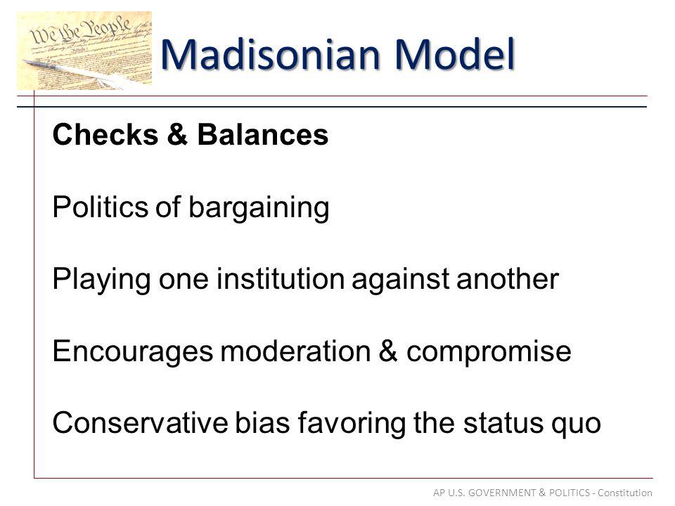 Madisonian Model AP U.S.