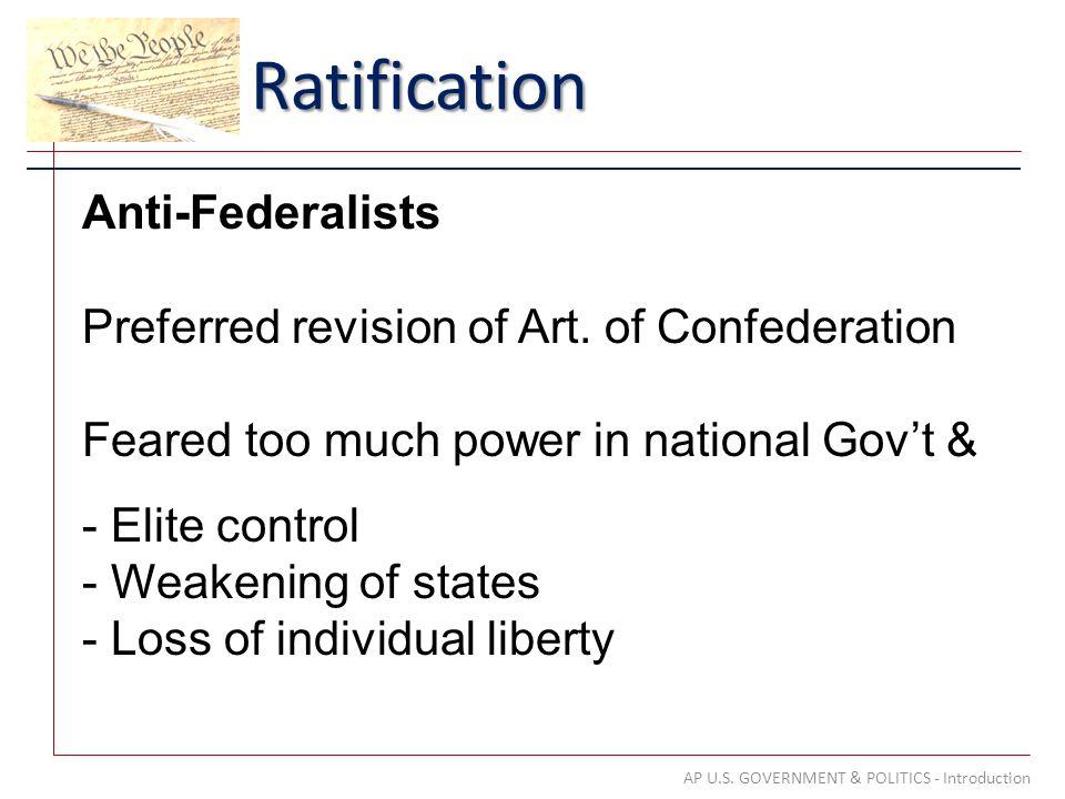 Ratification AP U.S.