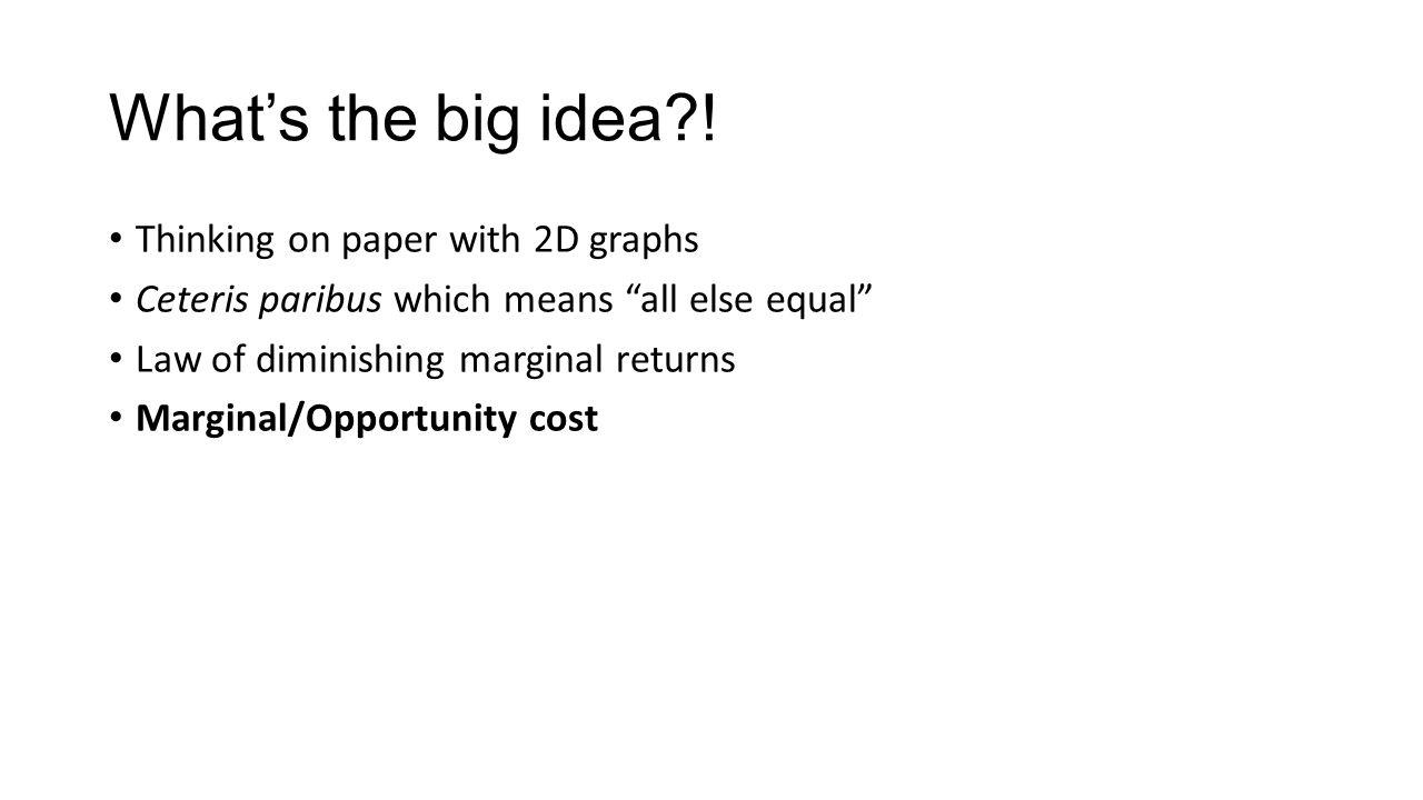 What's the big idea?.