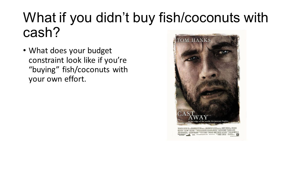 What if you didn't buy fish/coconuts with cash.