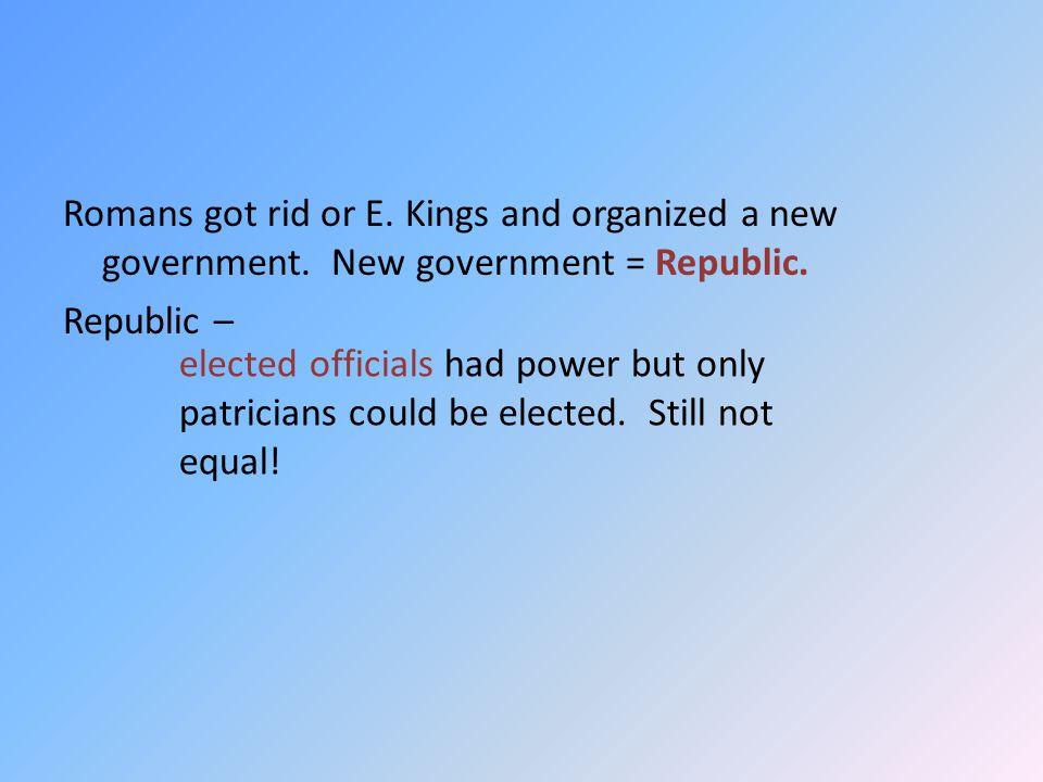 Government had consul (highest), a Senate (like USA), tribunes (watchdogs), and veto power (like USA).