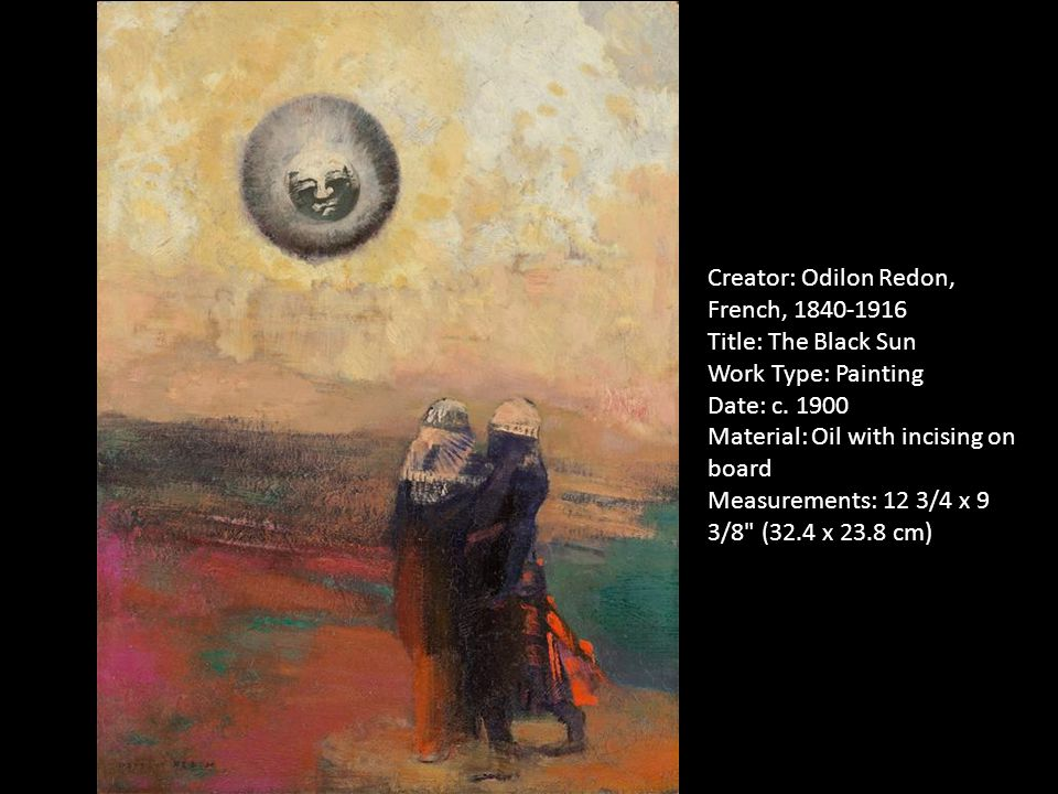 Creator: Odilon Redon, French, 1840-1916 Title: The Black Sun Work Type: Painting Date: c.