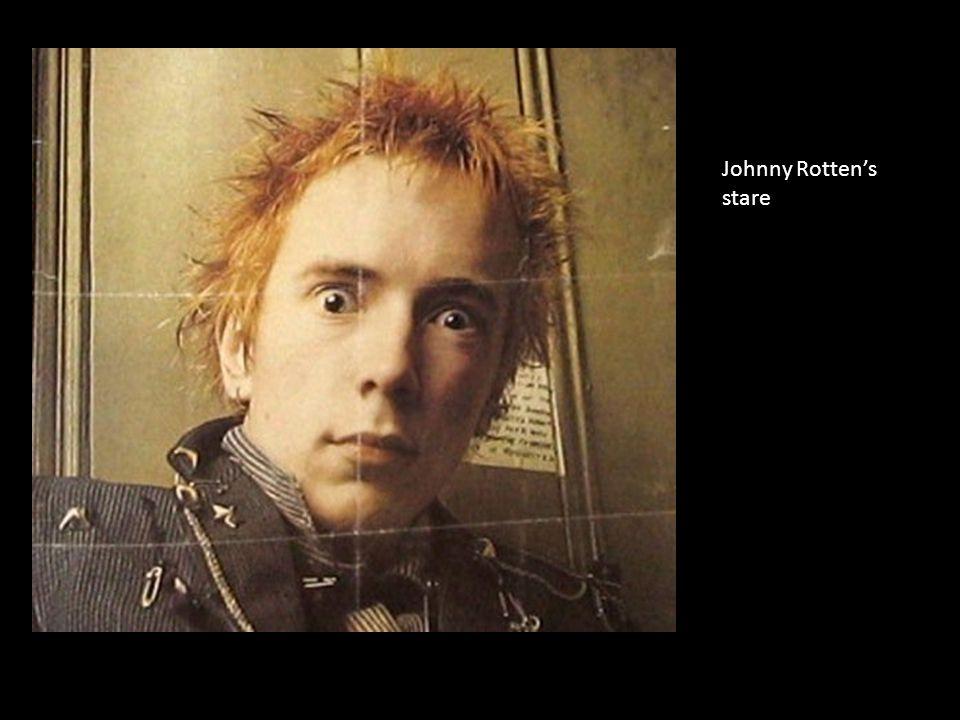 Johnny Rotten's stare