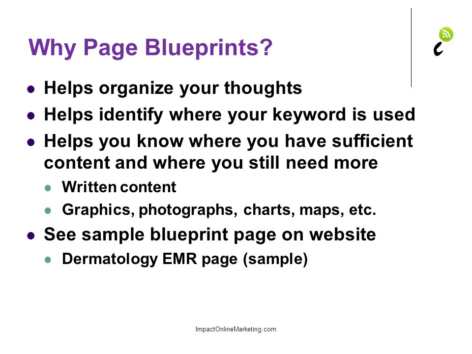 Why Page Blueprints.