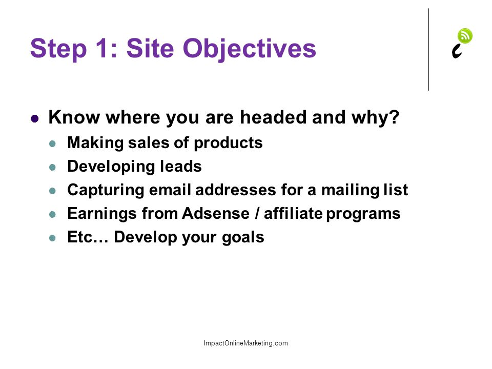 Step 2: Determine Demand Important if you are building a revenue site Is there sufficient interest in your topic.