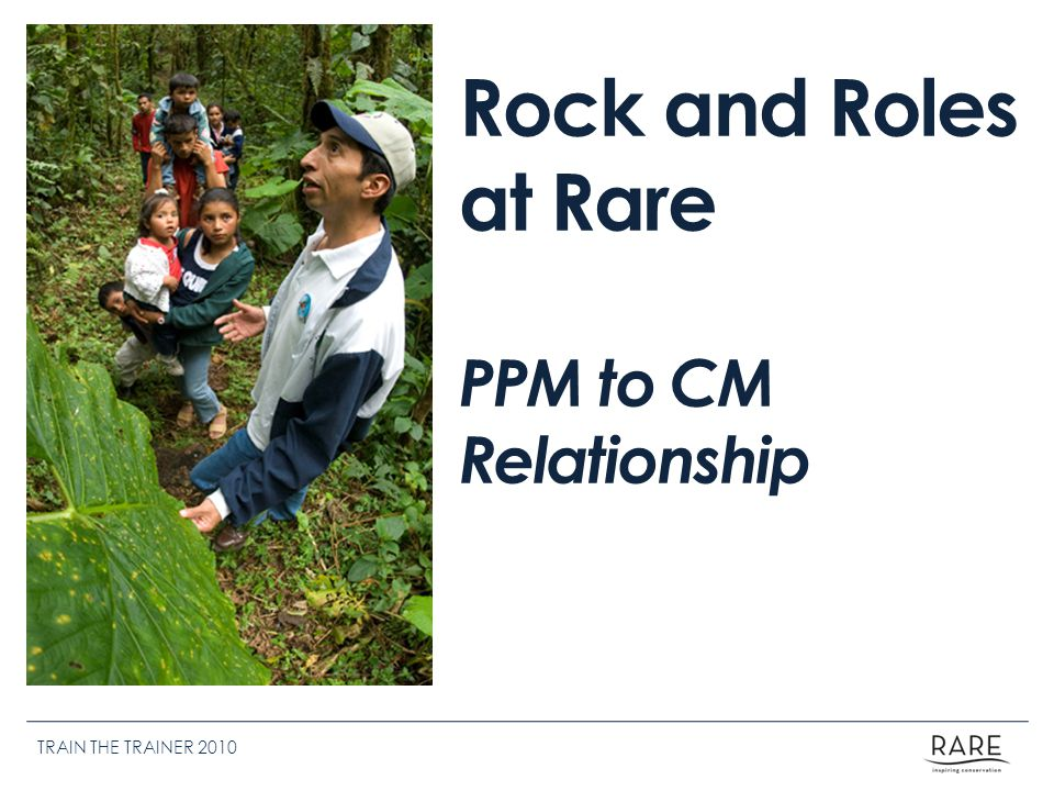 Rock and Roles at Rare PPM to CM Relationship TRAIN THE TRAINER 2010
