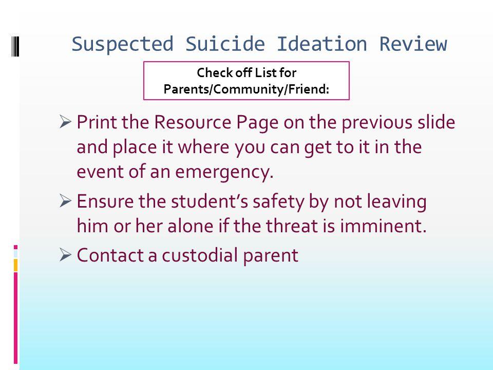 Suicide Prevention RESOURCES  Nova Center (256)-705-6093  Decatur General (256) 551-2710/(256) 306-4000 /(800) 937-3873  Madison County Mental Health 256-533-1970  Huntsville Hospital ER (256) 265-1000  Crisis Services of North Alabama 256-716-1000  1-800-SUICIDE  1-800-273-TALK  1-800-CDC-INFO