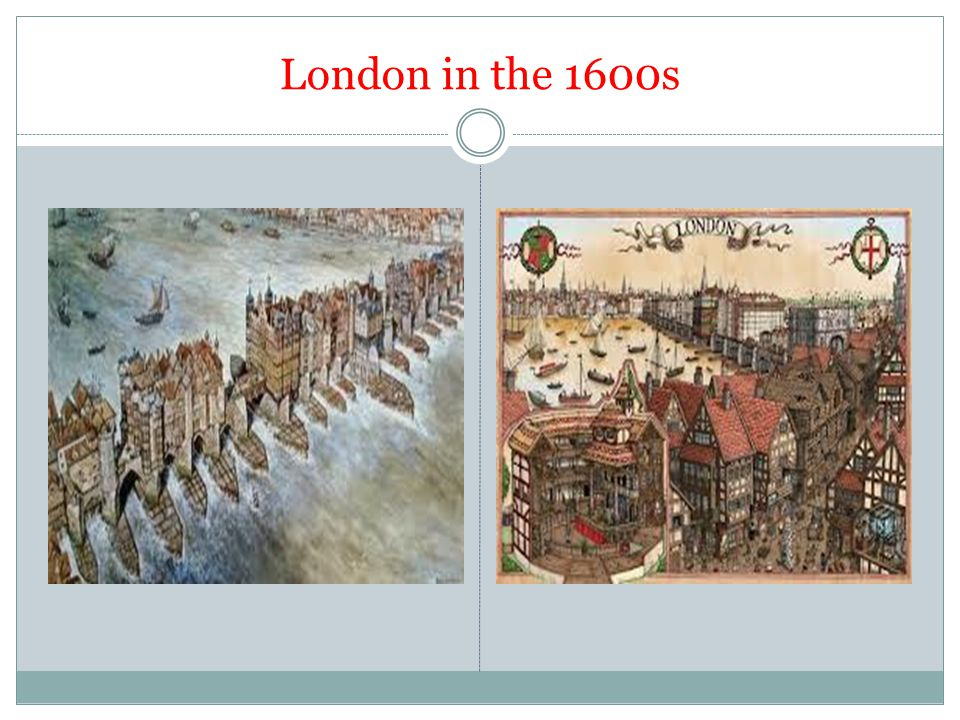 London in the 1600s