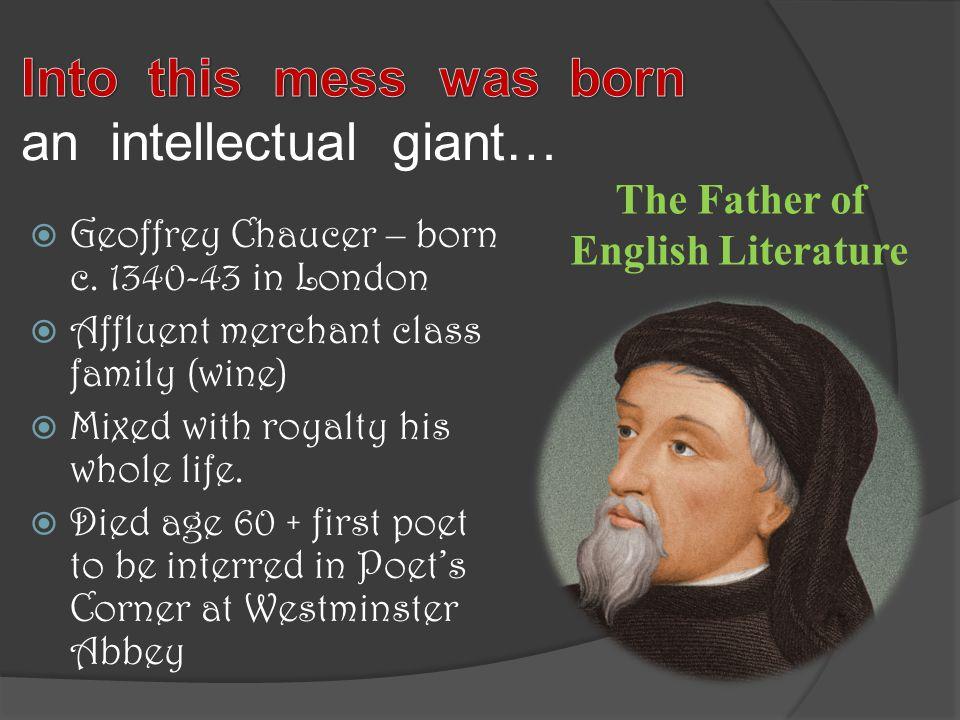 Geoffrey Chaucer – born c.