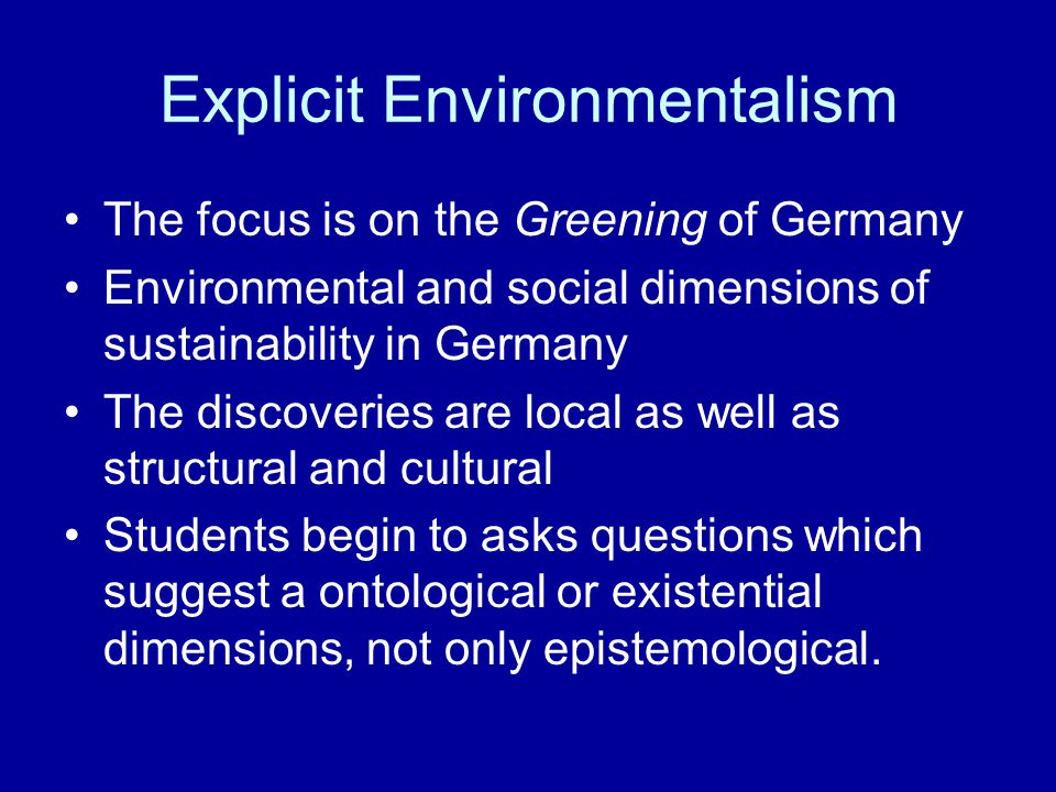Some Conclusions about working with Rubbish Environmentalism is a cultural discourse It follows lines of communication It is ideological Our understanding of what is 'good' or 'bad' is socially and culturally constructed in complex ways One person's 'Rubbish' is another person's 'valuable material' The shift from rubbish to valuable is based on ethical and social discourse