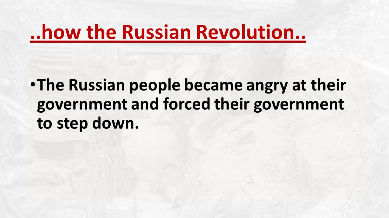..how the Russian Revolution..