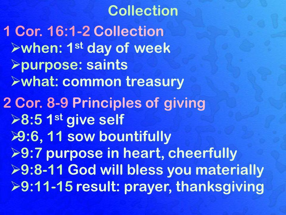 Collection 1 Cor.