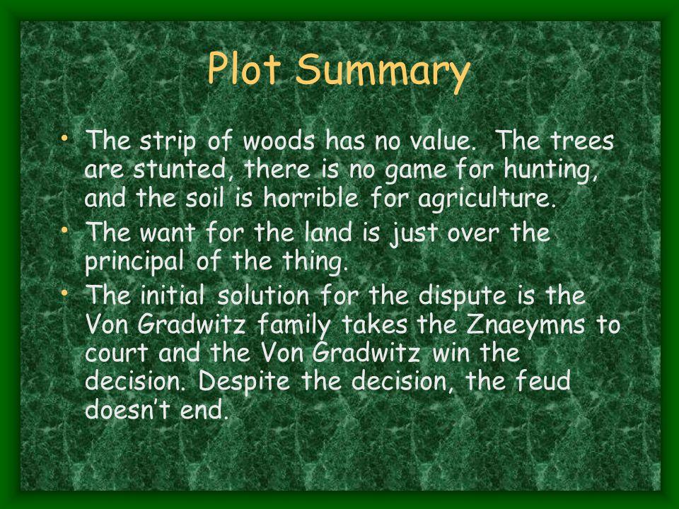 Plot Summary The strip of woods has no value.