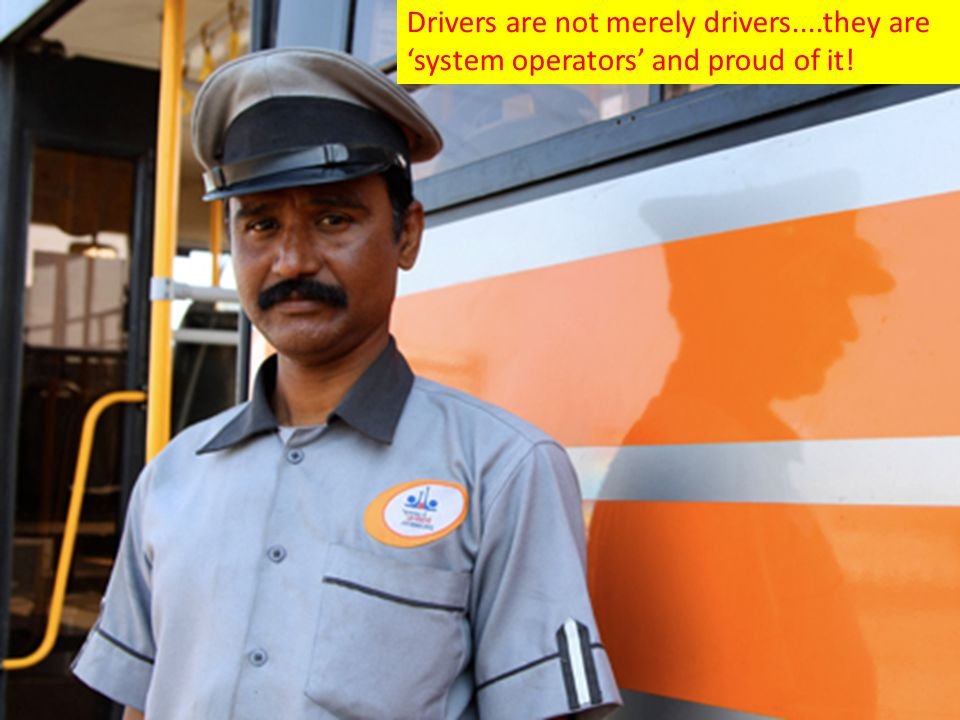 Drivers are not merely drivers....they are 'system operators' and proud of it!