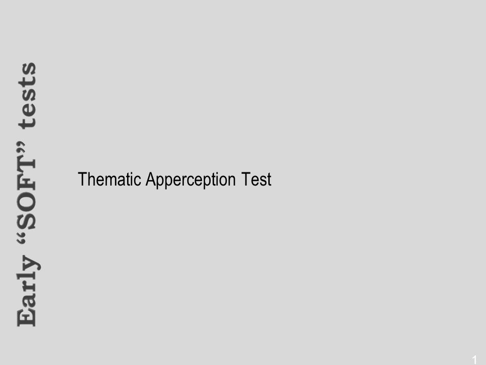Thematic Apperception Test 15