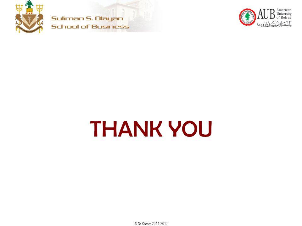 © Dr Karam 2011-2012 THANK YOU