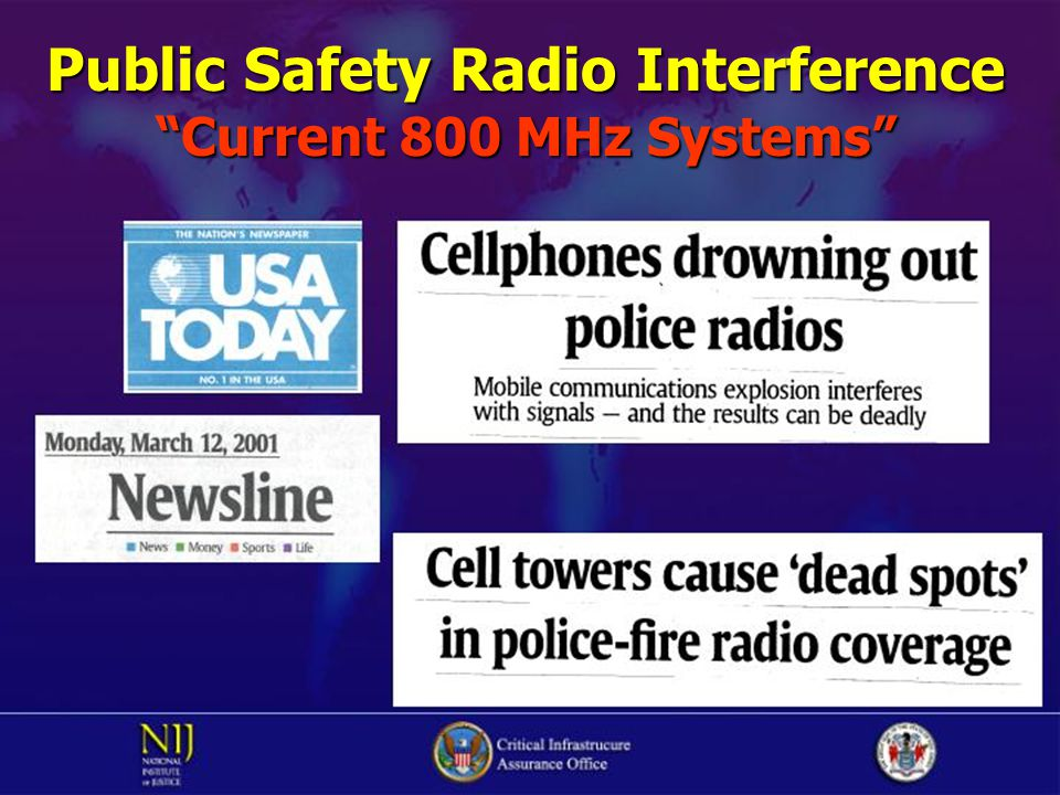 "Public Safety Radio Interference ""Current 800 MHz Systems"""