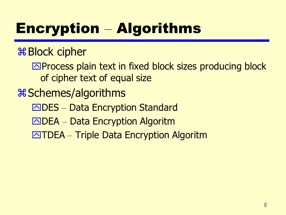 17 Public Key Encryption – Basics zBased on mathematical algorithms zAsymmetric yUse two separate keys yOne key made public yOther key kept private zEither key can be used for encryption, the other for decryption zInfeasible to determine decryption key given encryption key and algorithm