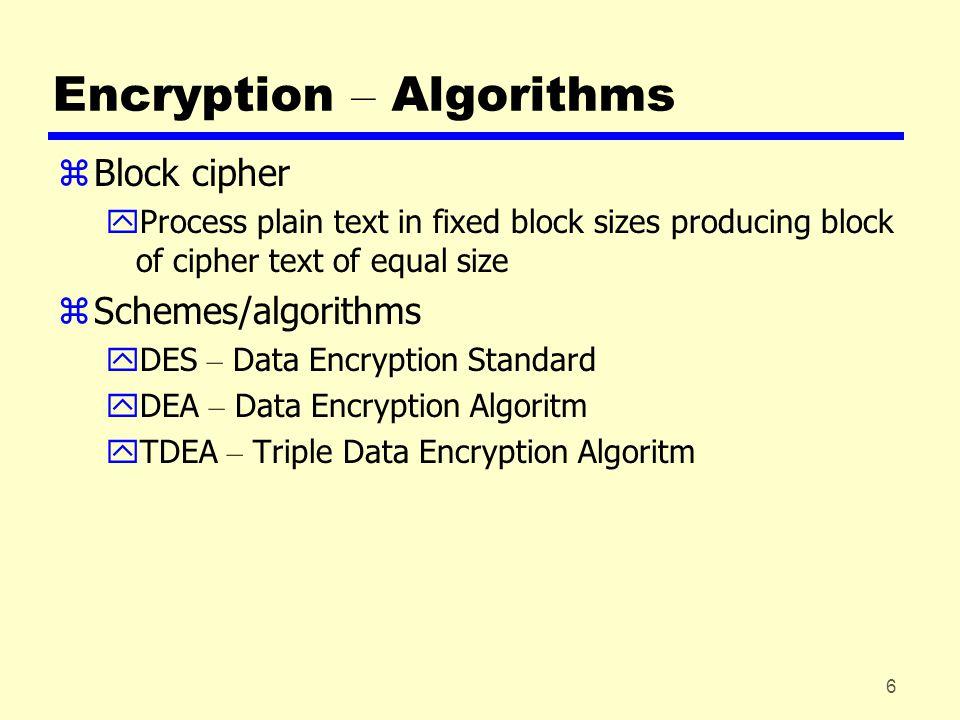 7 Encryption - DES Algorithm