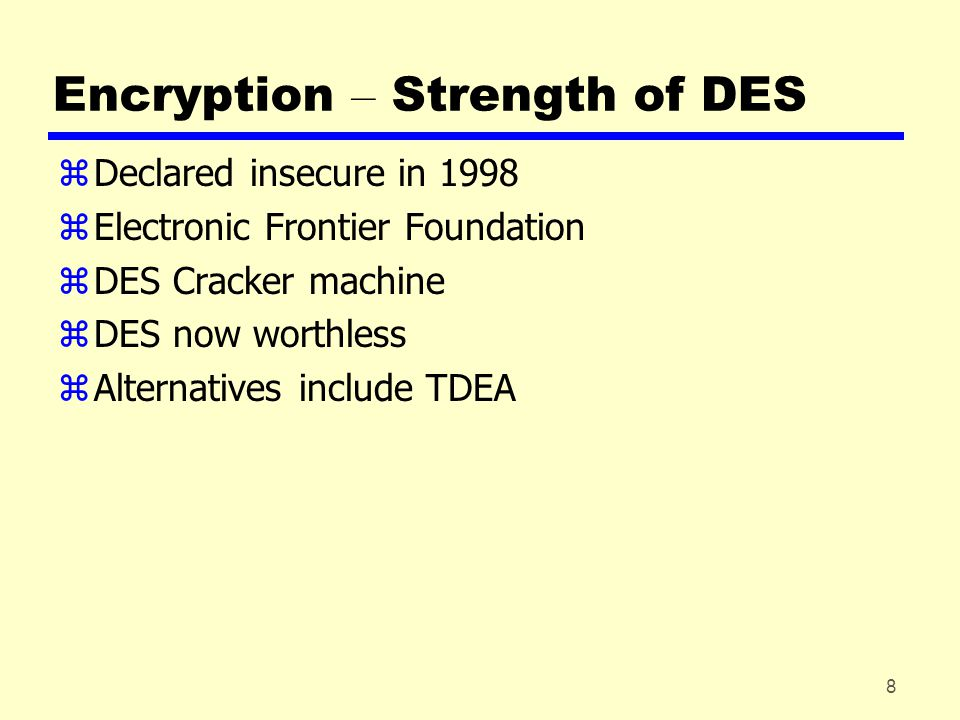 9 Encryption – Location of Encryption Devices