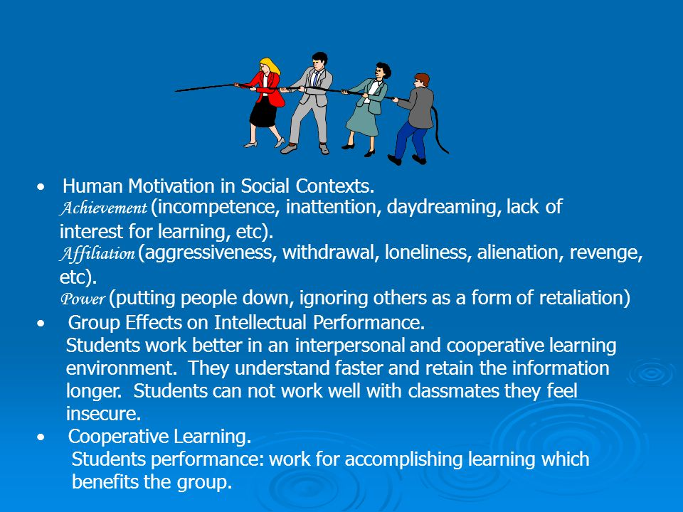 Human Motivation in Social Contexts.