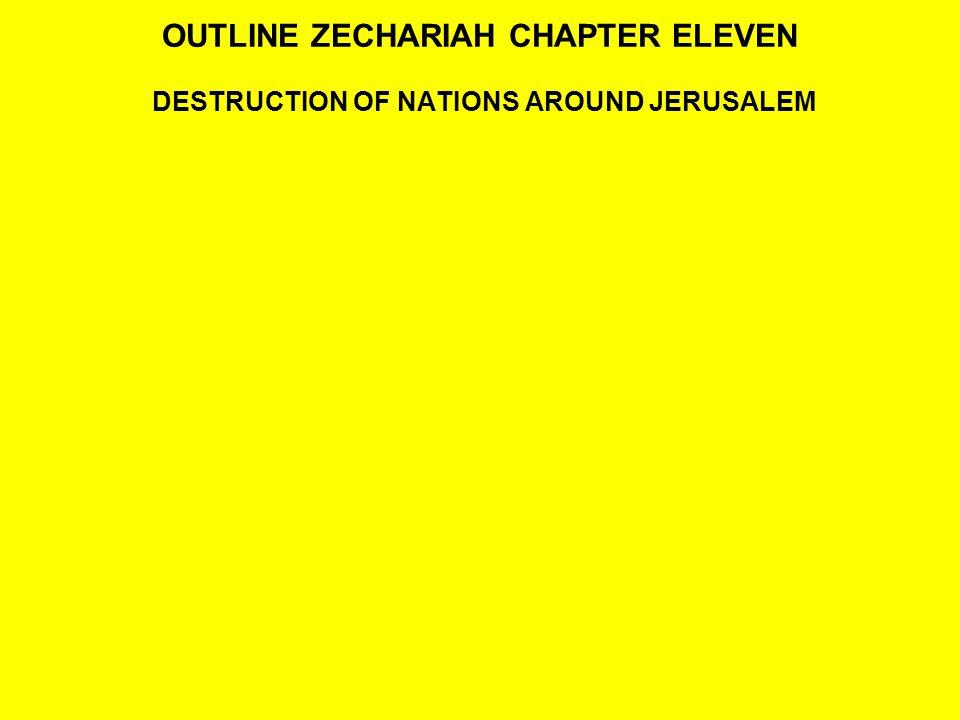 OUTLINE ZECHARIAH CHAPTER ELEVEN DESTRUCTION OF NATIONS AROUND JERUSALEM