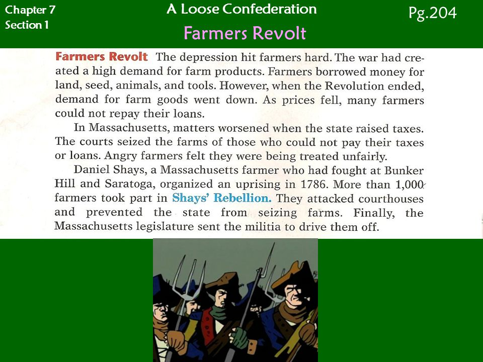 Chapter 7 Section 1 A Loose Confederation Farmers Revolt Pg.204